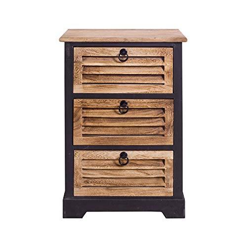 Rebecca Mobili Badezimmerschrank, Kommode mit 3 Schubladen, dunkles Holz, für Wohneinrichtung Ideen für Schlafzimmer Bad Haus – Maße: 63 x 42 x29 cm (HxLxB) - Art. RE4549