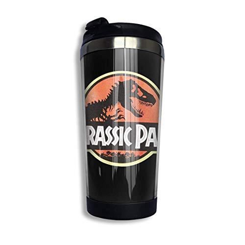 Taza de agua multifuncional con tapa Vaso de taza de café con aislamiento térmico de doble capa Jurassic Park