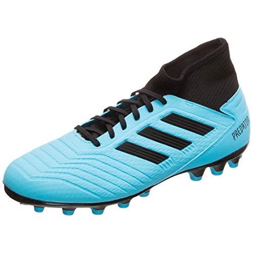 adidas Predator 19.3 AG, Zapatillas de Fútbol para Hombre, Azul (Bright Cyan/Core Black/Solar Yellow Bright Cyan/Core Black/Solar Yellow), 43 1/3 EU
