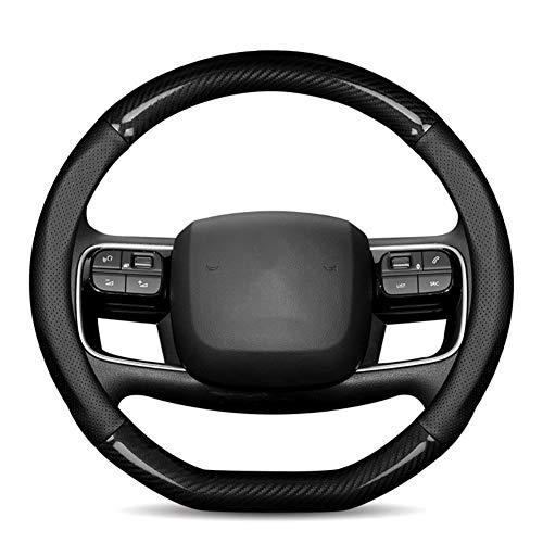 YHDNCG rutschfeste und verschleißfeste Auto-Lenkradabdeckung Typ D, Für Citroen C1 C3 C4 C5 DS4 DS5 Innenlenkerzubehör