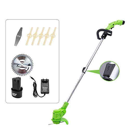Read About QINXUESHOP Cordless Grass Brush Cutter, Home Weed Strimmer with 3 Kinds Cutter Head Light...