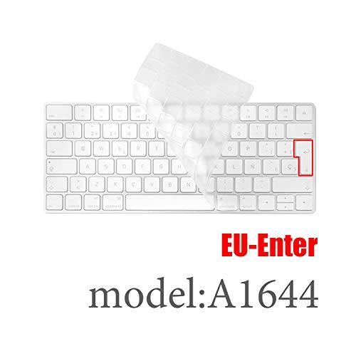 PC de sobremesa para Teclado inalámbrico Bluetooth Mla22Ll/A1644 A1314 iMac Cubierta Protectora de Silicona para Teclado de la versión de la UE