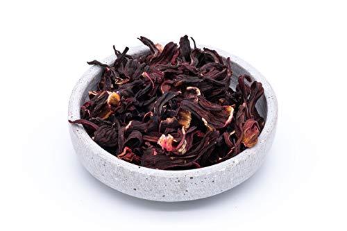 Flores de hibisco orgánico - 250g - flores enteras - ideal para té de flor de hibisco - secado al sol y natural - alimentos crudos - de Uzbekistán