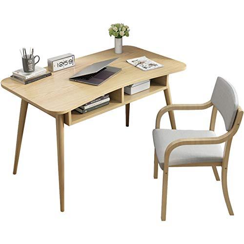Desk Escritorio de computadora con cajones, Escritorio de Oficina en casa Moderno, Puesto de Trabajo de Escritorio de Estudiante de Madera Maciza, Escritorio del Ordenador portátil de la PC