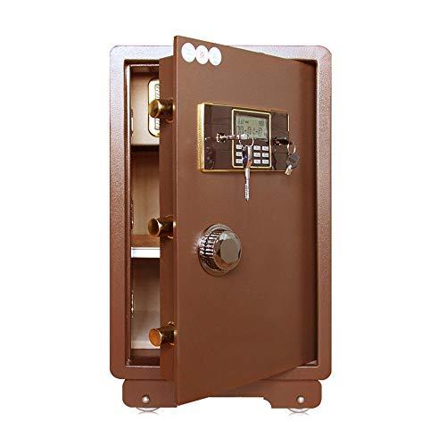 Caja de Seguridad Digital Caja Fuerte ignífugo y Resistente al Agua Segura con joyería Digital Teclado Electrónico Digital Secure Safe Safe Lock Alta Seguridad (Color : Bronze, Size : 41x37x70cm)