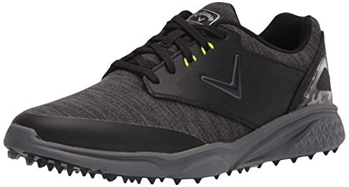 Callaway Men's Coronado v2 SL Golf Shoe, Black/Grey, 10