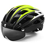 VICTGAOL Casco Bicicleta Helmet Bici Ciclismo para Adulto con Luz Trasera LED Visera Extraíble Hombres Mujeres Adultos...