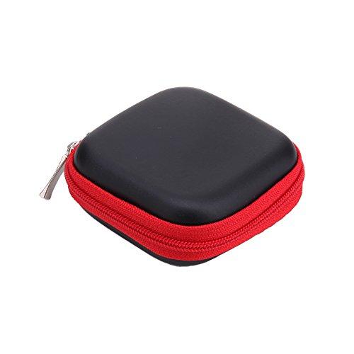 prettygood7 Square EVA Case Headset Bluetooth Oortelefoon Kabel Opbergdoos Nieuwe Mini voor Hard Drive behuizingen, Printers, Modems, Camera's en andere USB-randapparatuur Rood