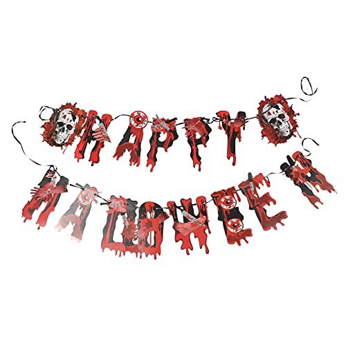 DOITOOL - 2 cuchillos de sangre para Halloween con forma de bola de ojo sangriento para manos rotas (rojo)