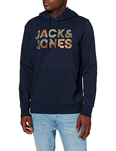JACK & JONES JJSOLDIER Logo Sweat Hood Sweatshirt Capuche, Blazer Bleu Marine, XXL Homme