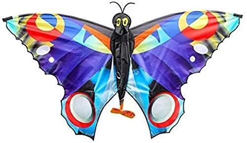 Stunt Kite Grande Butterfly Kite para NIÑOS Y Adultos, FÁCIL DE Volar LÍNEA DE LÍNEA para EL Parque DE Playas Y Actividades AIRNETALES con Cadena DE Kite