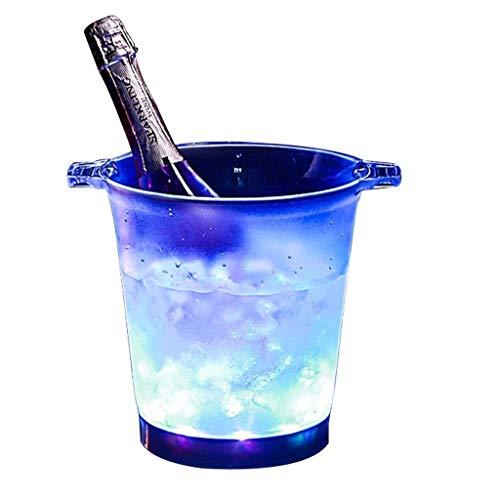 YWSZJ Eimer, große Kapazität Weinkühler Led wasserdicht mit Farbwechsel, Retro Champagner Wein