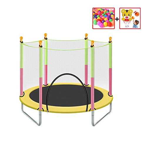 Trampoline voor kinderen met Safety Protective Net Spring Bouncer Trampette voor de Grote Gift for Kids Fashion Sport Home Gym Equipmen