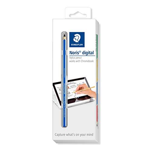 STAEDTLER blue Noris digital For Chromebook EMR Stylus, Fine Touchscreen Pencil with a 0.7 mm Tip, 18022G-3