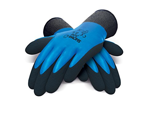 SHOWA 306, Latex, Latexschaum – Beschichtung, Mehrzweck, Blau mit schwarzer Beschichtung, 7/M