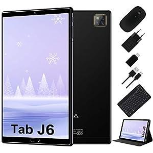 Tablet 10 Pulgadas Android 10.0 - RAM 4GB | ROM 64GB - WiFi - Octa Core (Certificación Google gsm) -JUSYEA Tableta - Batería de 6000mAh —Ratón | Teclado y Otros (Negro)
