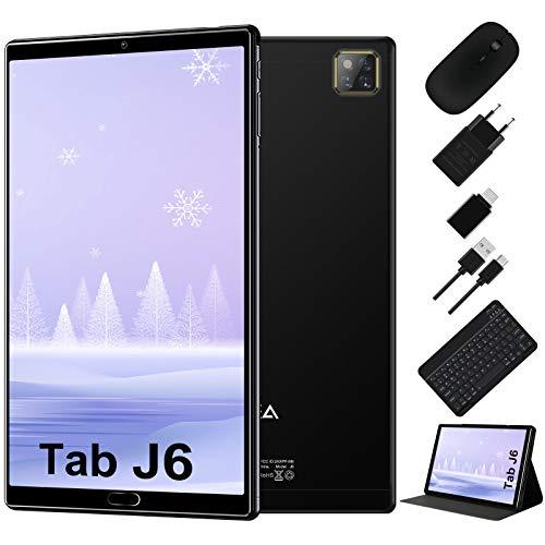 Tablet 10 Pollici Android 10.0 - RAM 4GB | ROM 64GB - WIFI -Octa core (Certificazione GOOGLE GMS) -JUSYEA Tablets - 6000mAh Batteria — Mouse | Tastiera e Altro (Nero)