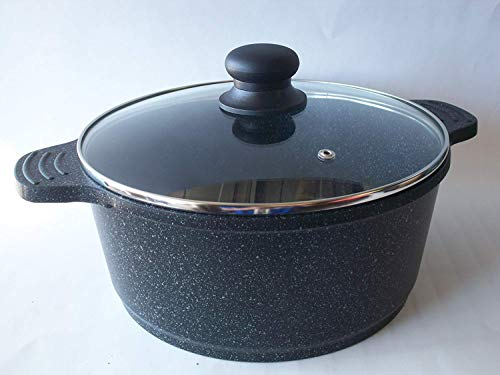 Ceramic Marble Coated Cast Aluminium 6 qt. Stockpot Non Stick Cookware (26 cm diameter)