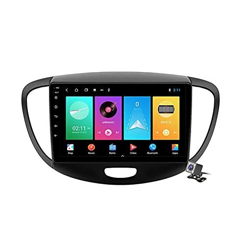 CIVDW 9 pulgadas pantalla Android 11 coche estéreo para Hyundai I10 2007-2013 incorporado Carplay auto soporte control de voz/Bluetooth 5G WiFi FM AM Radio/espejo Link/navegación GPS SWC