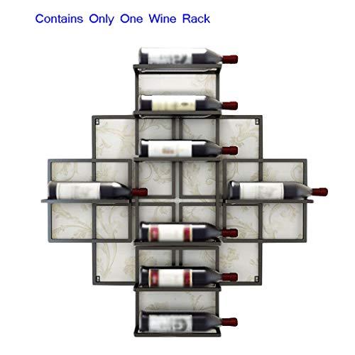 XXW Casier À Vin Wandhalterung für Weinregal Moderne minimalistische Wandhalterung für Weinregale Hängende Weinablage Flaschenhalter (Color : Black, Größe : 80 x 10x80CM)