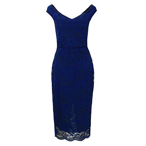 Laeticia Dreams dames jurk van kant mouwloos knielang S M L XL