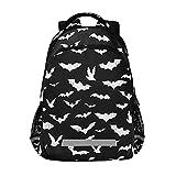 Glaphy Halloween Bats Backpacks Laptop School Book Bag Lightweight Daypack for Men Women Teens Kids