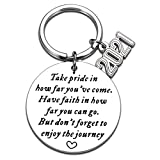 Encouragement Gifts Keychain for Women Men Back to School Gifts for Sons Daughters Class of 2021 Graduation Keychain for Boys Girls Best Friends High School Seniors Students