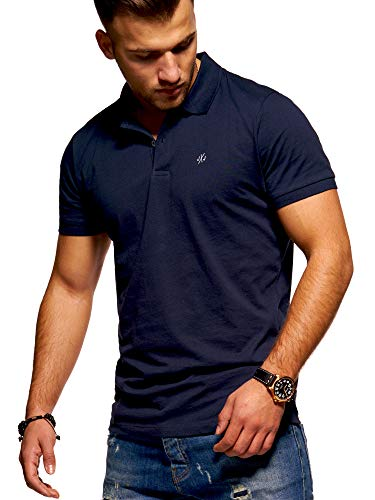 JACK & JONES Herren Poloshirt Polohemd Shirt Basic (Medium, Total Eclipse)