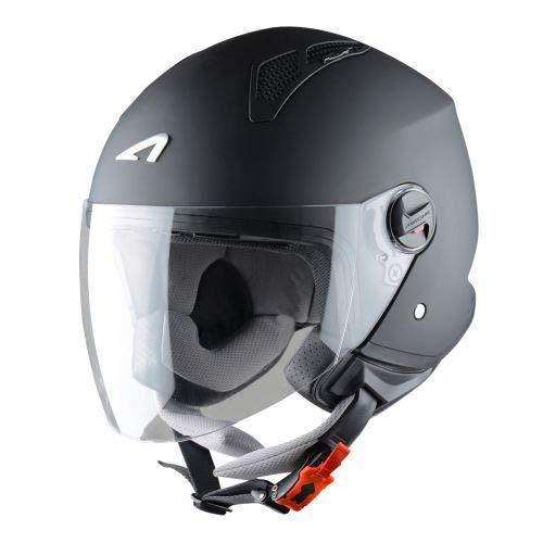 Astone Helmets - MINIJET monocolor - Casque jet - Casque jet urbain - Casque moto et scooter compact - Coque en polycarbonate - Black Matt XS