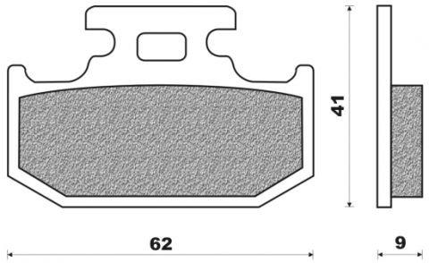 Bremsbeläge hinten organische Version Typ FD.0144 für Kawasaki KDX 125 200, KLX 600, KR 500, KX 125 250 500, Suzuki DR, RM, RMX, TS, Yamaha DT 125, FZR, TT, WR, XT, YZ 125 250