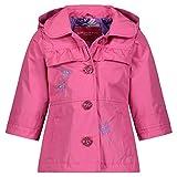 LONDON FOG Baby Girls' Li'l Lightweight Trench Dress Coat Jacket, Pink Butterflies, 12MO