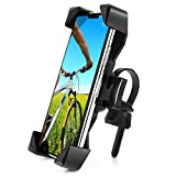 AONKEY One-Touch Release Bike Phone Mount, 360° Rotatable Cell Phone Holder for Bike Handlebar/Stem, Universal Bicycle Phone Holder Compatible with iPhone 12 11 Pro Xs Max, Samsung, 4.0'-6.5' Phones