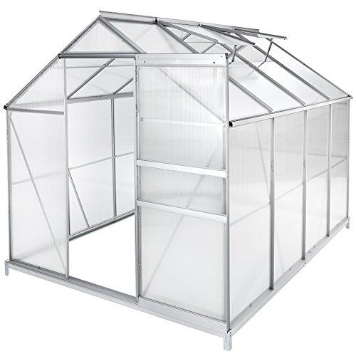 TecTake Invernadero de jardín policarbonato Transparente Aluminio casero Plantas Cultivos - Varios...