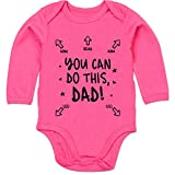 Shirtracer Strampler Motive - You can do This Dad - Anleitung für Papa - 6/12 Monate - Fuchsia - Baby Strampler Papa Anleitung - BZ30 - Baby Body Langarm