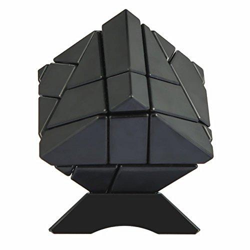 ThinkMax 3 * 3 Ghost Cube, Advanced Cube Magic Speed Brain Teasers, Rompecabezas de Inteligencia con Adhesivo de Fibra de Carbono para niños y Adultos