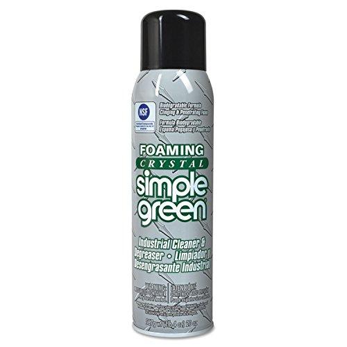 simple green Foaming Crystal Industrial Cleaner & Degreaser, 20 oz Aerosol, 12/Carton
