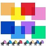Juego de filtros de color para flash (rojo, amarillo, naranja, verde, lila, rosa, azul claro, azul oscuro)