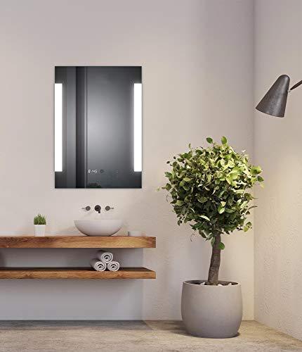SOGOO Nouvelle Génération Lampe Miroir Salle de Bain LED Miroir Lumineux Salle de Bain LED Miroir Salle de Bain avec Éclairage Intégré LED Blanc Froid 6500K (L60 x H80cm)