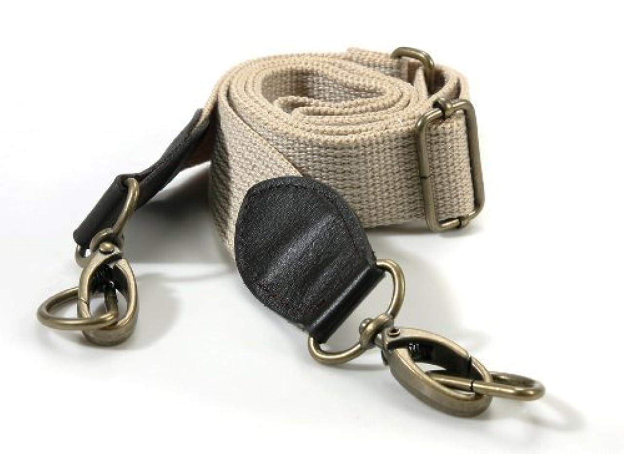 byhands Adjustable Webbing Cross Shoulder Bag Strap with Genuine Leather Tab/Bronze Style Ring, 33.4
