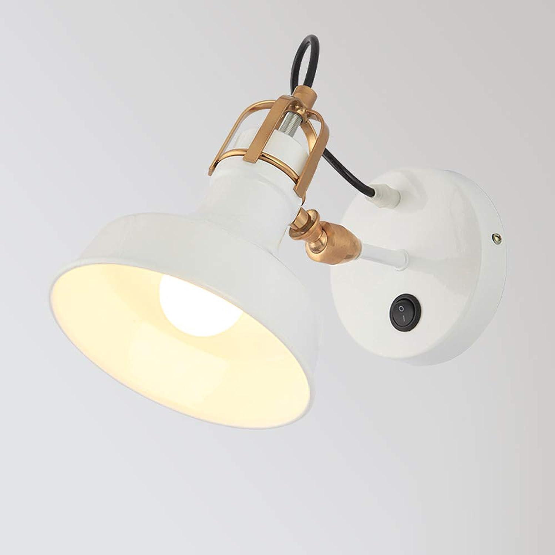 TZZ Mit Schalter Verstellbare Wandleuchte Kreative Einfache Stil Massivholz Gang Schlafzimmer Treppenlampe LED Bett Nachttischlampe Klassische dekorative Lichter