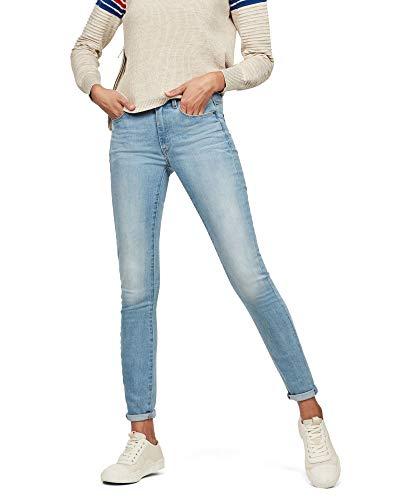 G-STAR RAW Damen 3301 High Waist Skinny Jeans, Blau (lt Aged 6553-424), 33W / 30L