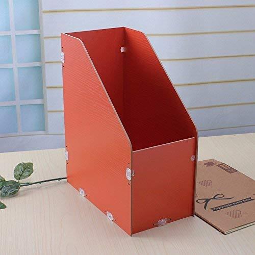 MWPO Vassoio per Organizer per scrivania a scaffale Multi-Strato per scrivania, portaoggetti per scrivania per scrivania in Legno 13,7x25,6x31 cm, Arancione