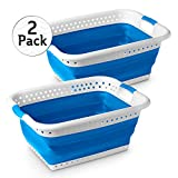 Stylin' Home 2-Pack Plastic Collapsible Laundry Basket