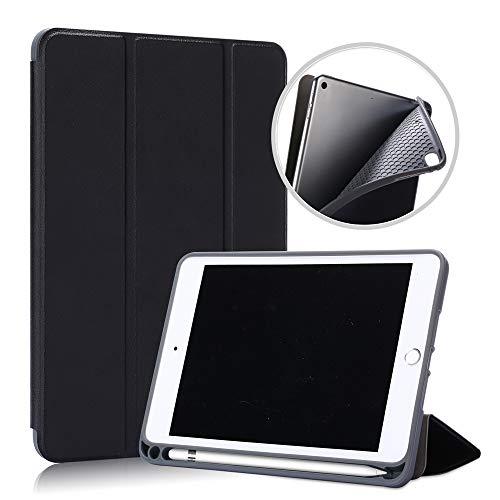 Riachy Étui support compatible pour iPad Mini 4 iPad Mini 5 iPad Mini 2019 Étui en cuir PU 3 volets avec emplacement pour stylo et fonction veille (Or rose)