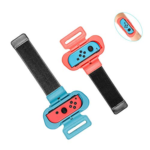 Wrist Bands for Nintendo Switch Controller by Boundless Just Dance 2021 2020 2019 2018, Zumba Burn It Up, Adjustable Strap for Joy Con Controller fits all Sizes for Children and Adults