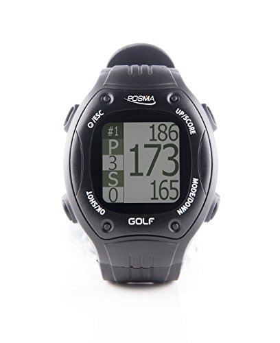 Posma GT1 Reloj de Entrenamiento de Golf con GPS y telémetro, Campos de golf  preinstalados sin necesidad de descargas o contratos, Negro