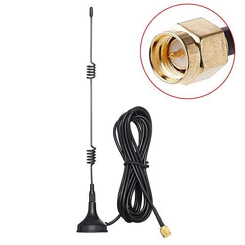 2.4GHz WiFi AntenaConector Macho SMA con Base Magnética, TengKo 10ft/3M 7dBi Gane HD Cámara de Seguridad Inalámbrica Extensión de Antena de Video para CCTV Cámara de Seguridad Cámara IP Conect