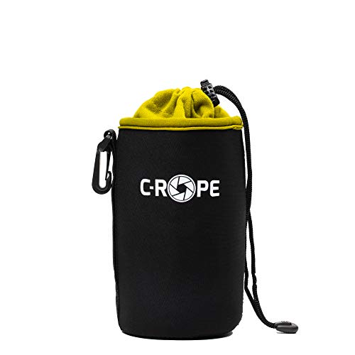 C-Rope Neopren Objektivbeutel mit Fleece-Fütterung als Schutz für Objektive oder Kamerazubehör, Größe L
