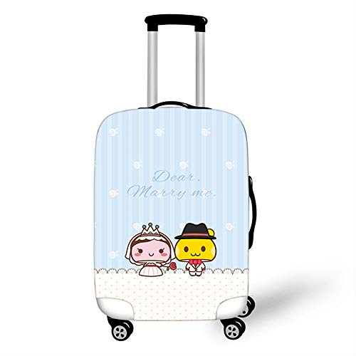 Elastic Luggage Cover, CNNINHAO 3D Print Trolley Case Protective Travel Suitcase Anti Scratch Dustproof Resistant Case Trolley Skin Protector Elasticized Washable (3,M (22-24inch))