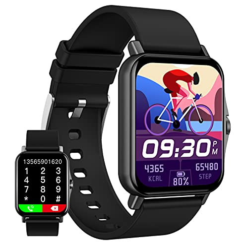 HQPCAHL Reloj Inteligente con Seguimiento De Actividad Física De Llamada De Temperatura Corporal con Control De Música Y Seguimiento De Actividad con Pantalla De 1,69 Pulgadas para Android iOS,Negro